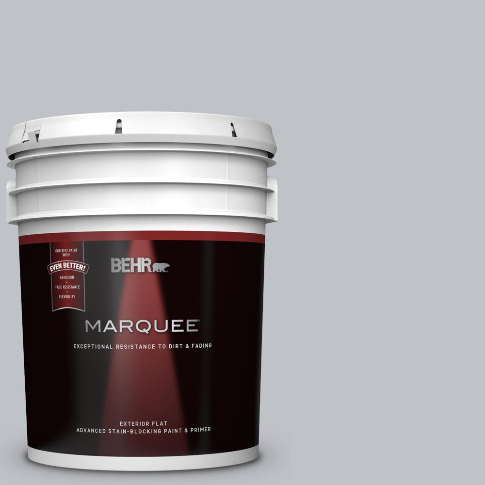 5 gal. #N510-2 Galactic Tint Flat Exterior Paint and Primer in One