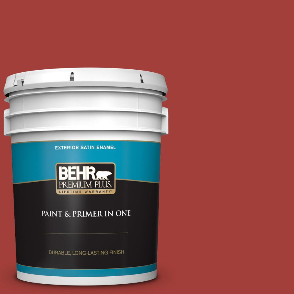 5 gal. #P140-7 No More Drama Satin Enamel Exterior Paint and Primer in One