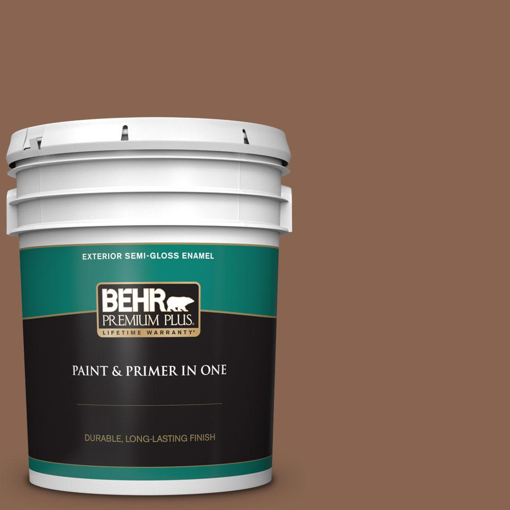 5 gal. #PPU3-17 Clay Pot Semi-Gloss Enamel Exterior Paint and Primer in One