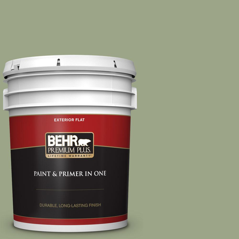 5 gal. #PPU11-07 Clary Sage Flat Exterior Paint and Primer in One