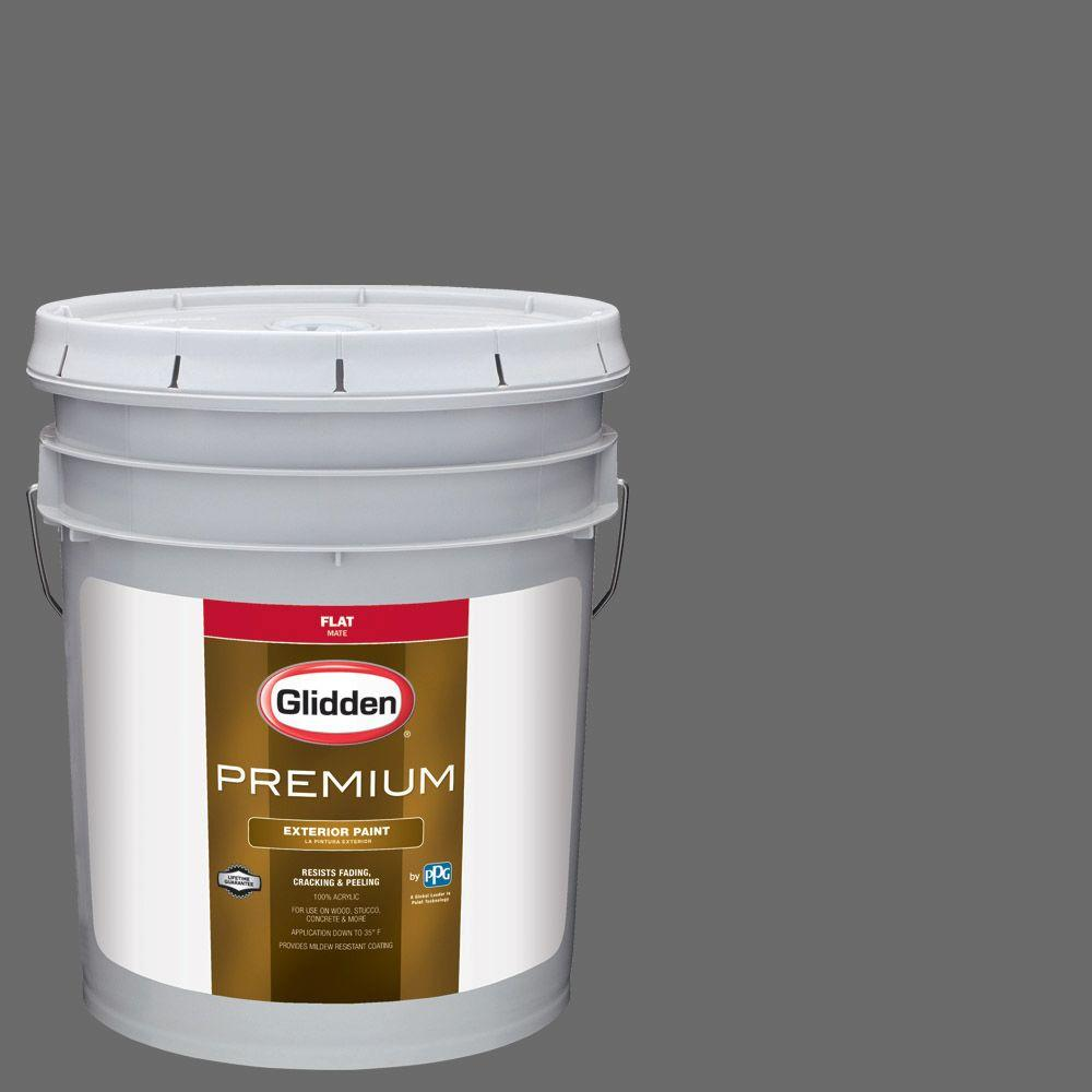 5-gal. #HDGCN64D Grey Tabby Flat Latex Exterior Paint