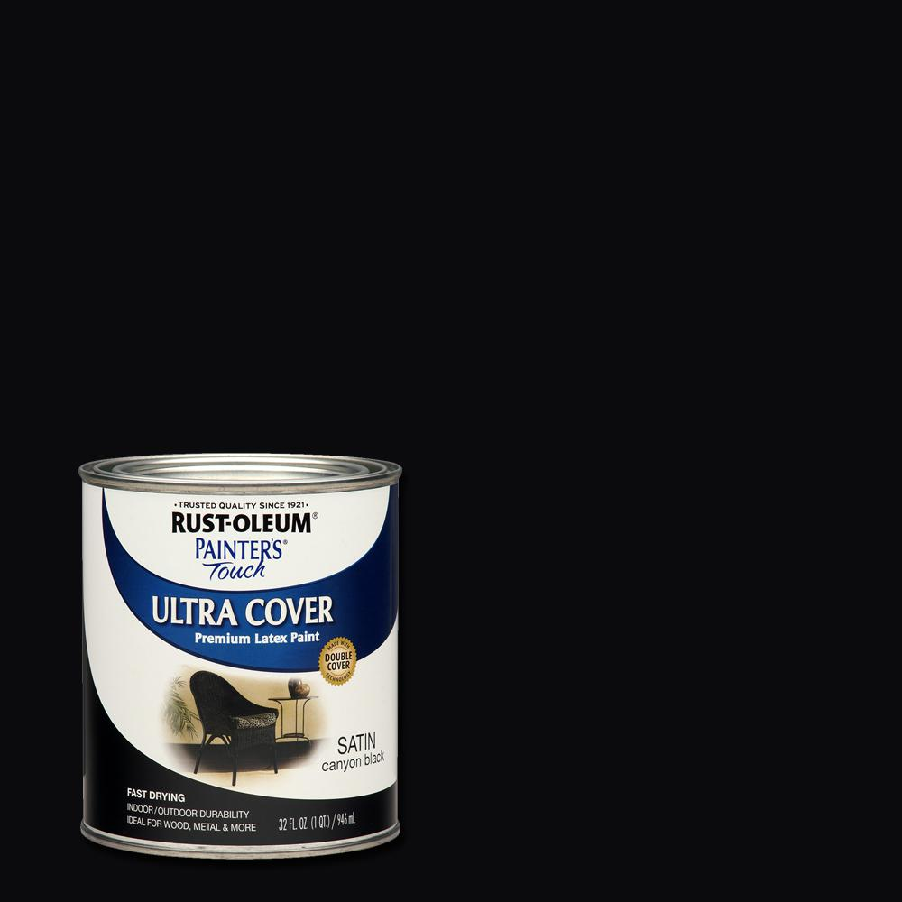 32 oz. Ultra Cover Satin Canyon Black General Purpose Paint (Case of 2)