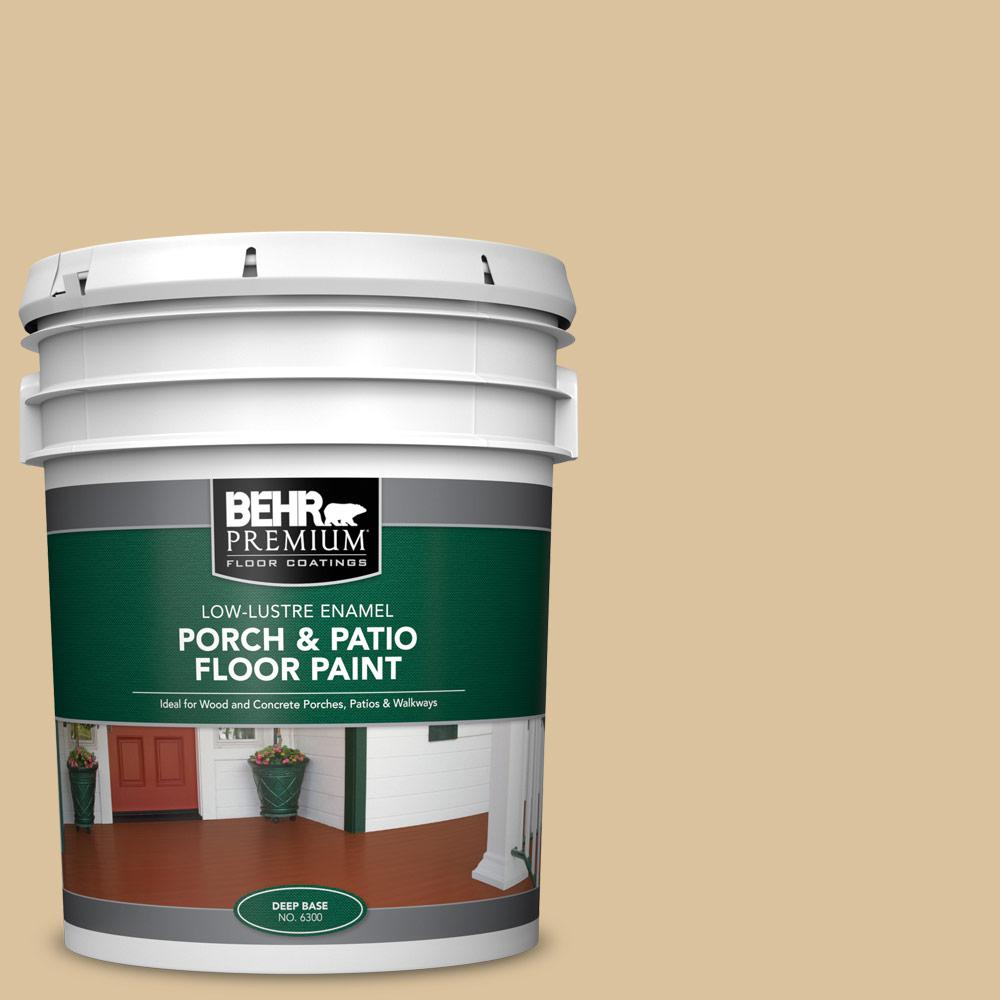 5 gal. #S310-3 Natural Twine Low-Lustre Enamel Interior/Exterior Porch and Patio Floor Paint