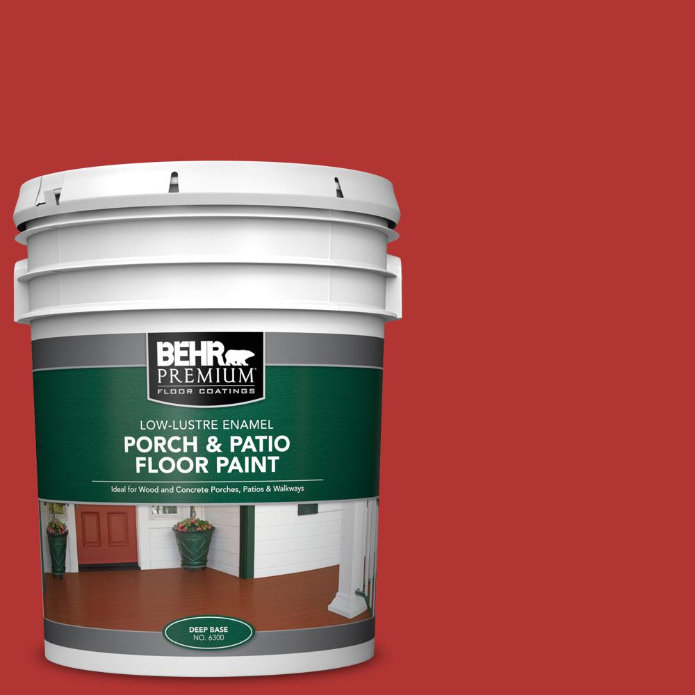 5 gal. #170B-7 Red Tomato Low-Lustre Enamel Interior/Exterior Porch and Patio Floor Paint