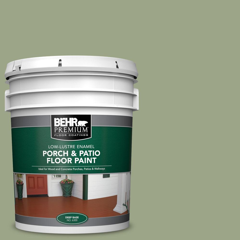 5 gal. #PPU11-07 Clary Sage Low-Lustre Enamel Interior/Exterior Porch and Patio Floor Paint