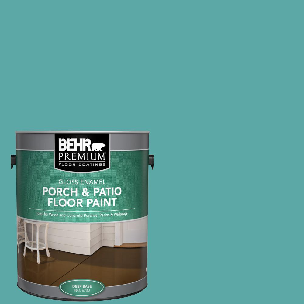 1 gal. #500D-5 Teal Zeal Gloss Enamel Interior/Exterior Porch and Patio Floor Paint