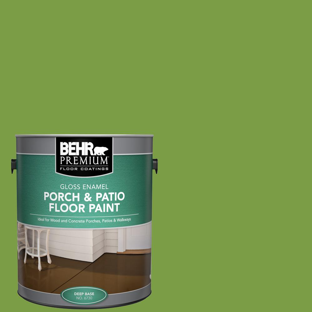 1 gal. #420B-7 Pepper Grass Gloss Enamel Interior/Exterior Porch and Patio Floor Paint