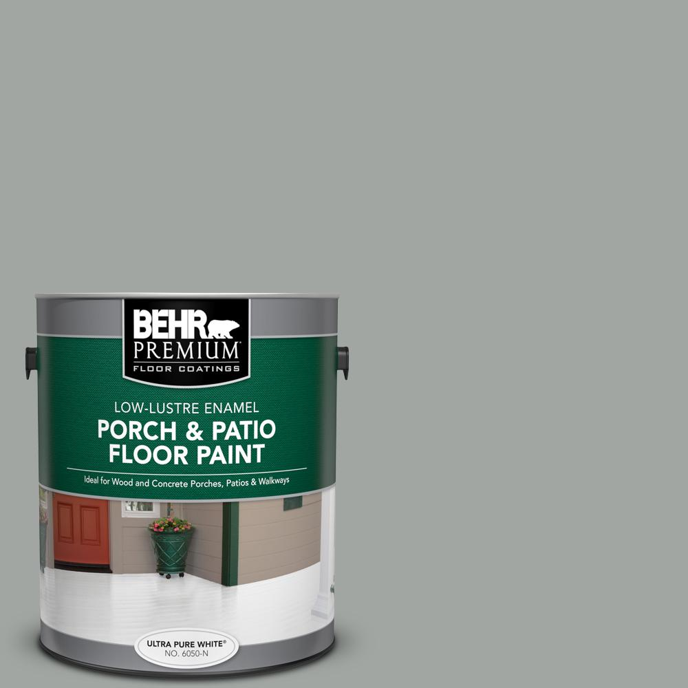1 gal. #PPU25-04 Sharkskin Suit Low-Lustre Enamel Interior/Exterior Porch and Patio Floor Paint