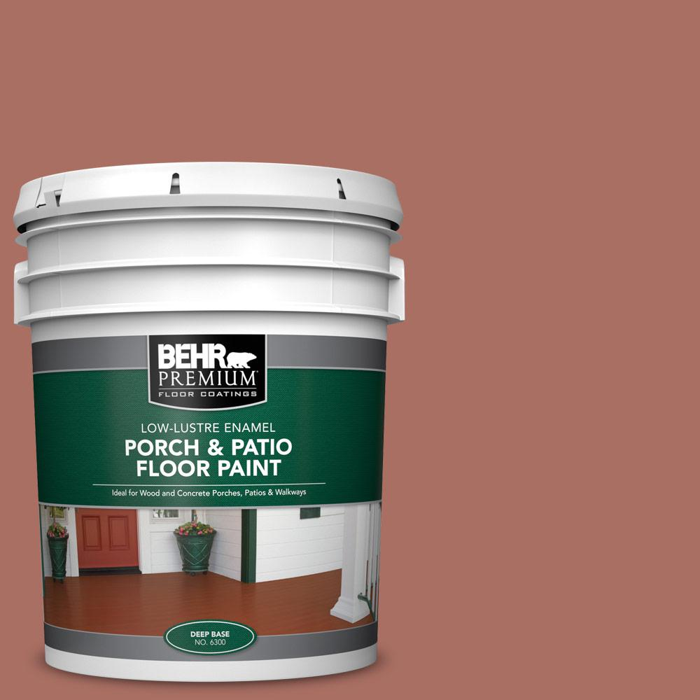 5 gal. #PFC-08 Terra Brick Low-Lustre Enamel Interior/Exterior Porch and Patio Floor Paint