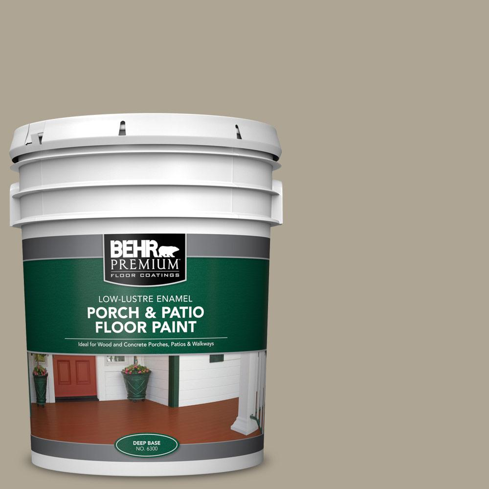5 gal. #PPU8-19 Stone Walls Low-Lustre Enamel Interior/Exterior Porch and Patio Floor Paint