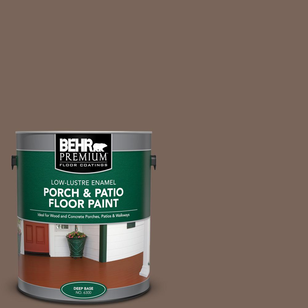 1 gal. #AE-5 Chocolate Brown Low-Lustre Enamel Interior/Exterior Porch and Patio Floor Paint