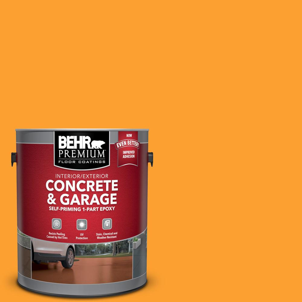 1 gal. #P250-7 Blazing Bonfire Self-Priming 1-Part Epoxy Satin Interior/Exterior Concrete and Garage Floor Paint