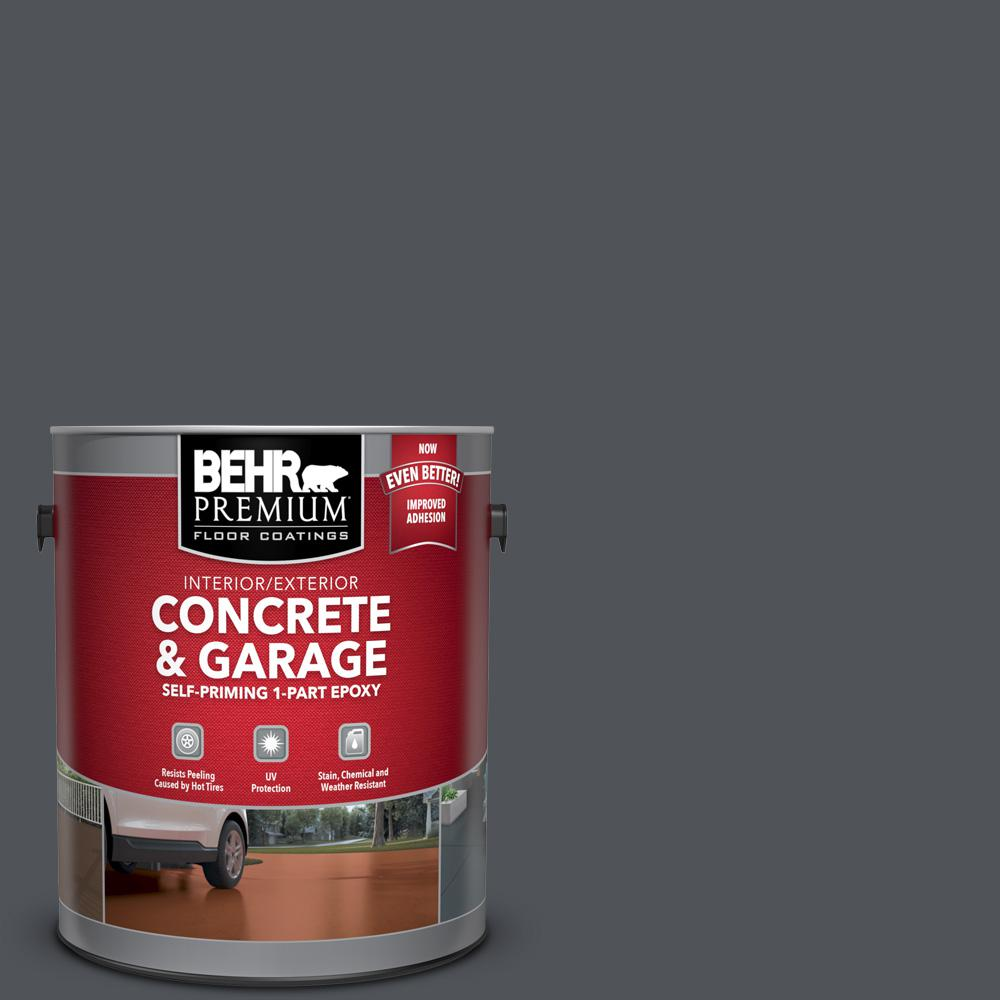 1 gal. #N510-6 Orion Gray Self-Priming 1-Part Epoxy Satin Interior/Exterior Concrete and Garage Floor Paint