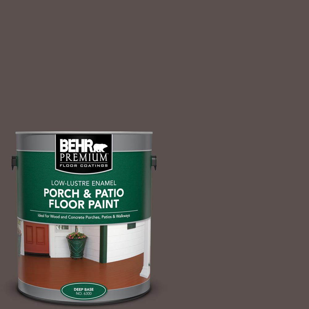 1 gal. #AE-24 Barn Brown Low-Lustre Enamel Interior/Exterior Porch and Patio Floor Paint